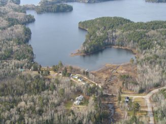 lodge for sale on large lake in Blind River